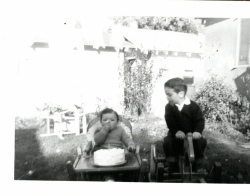 Dad's 1st Birthday, 1956.