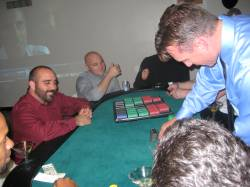 Guys playing poker with real money!