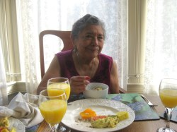 Nana at Breakfast!