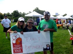 Nana, Dad & I with our NKF Banner!