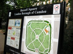 Russell Square Sign