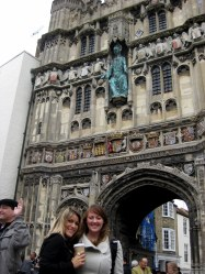 Shannon & Rita at the Canterbury Cathedral